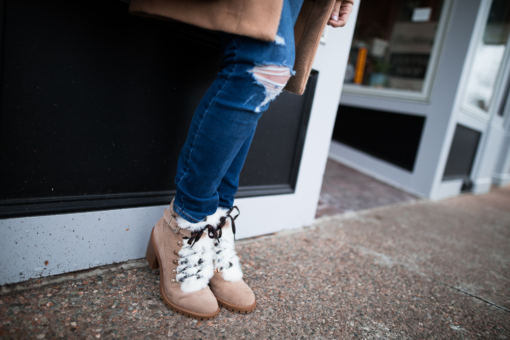 Winter style inspiration with Nine West featuring Iagree Lace up Booties.