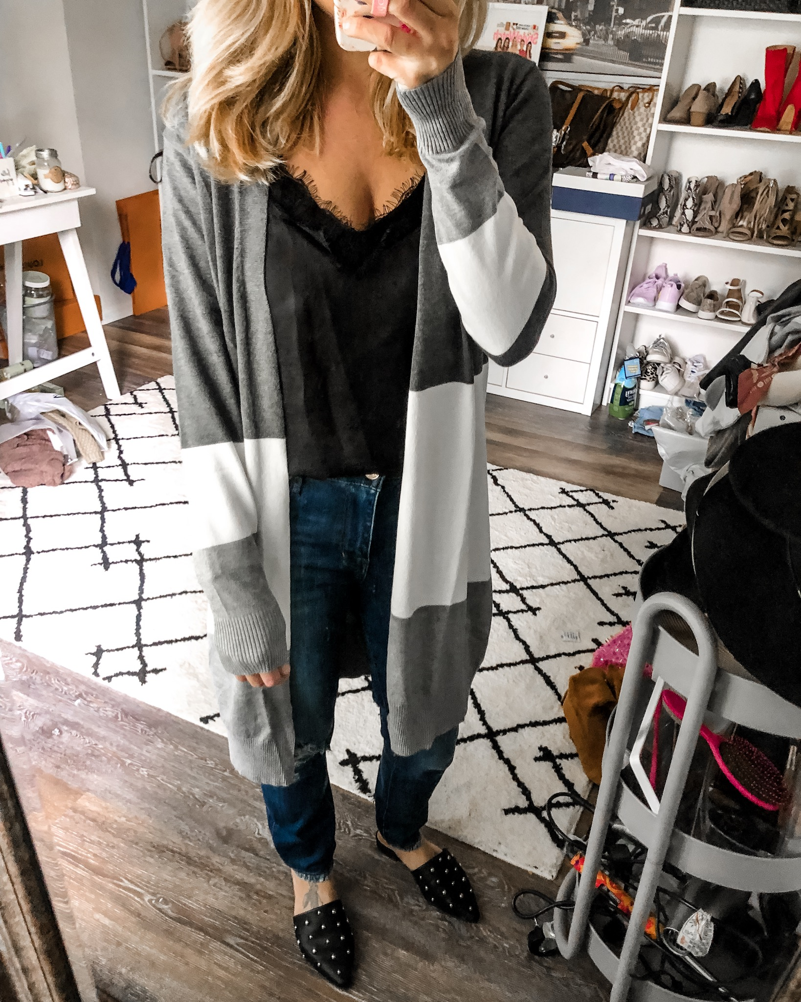 colorblock cardigan from amazon