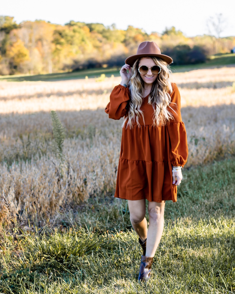 Amazon Fall Fashion under $25- flowy dress