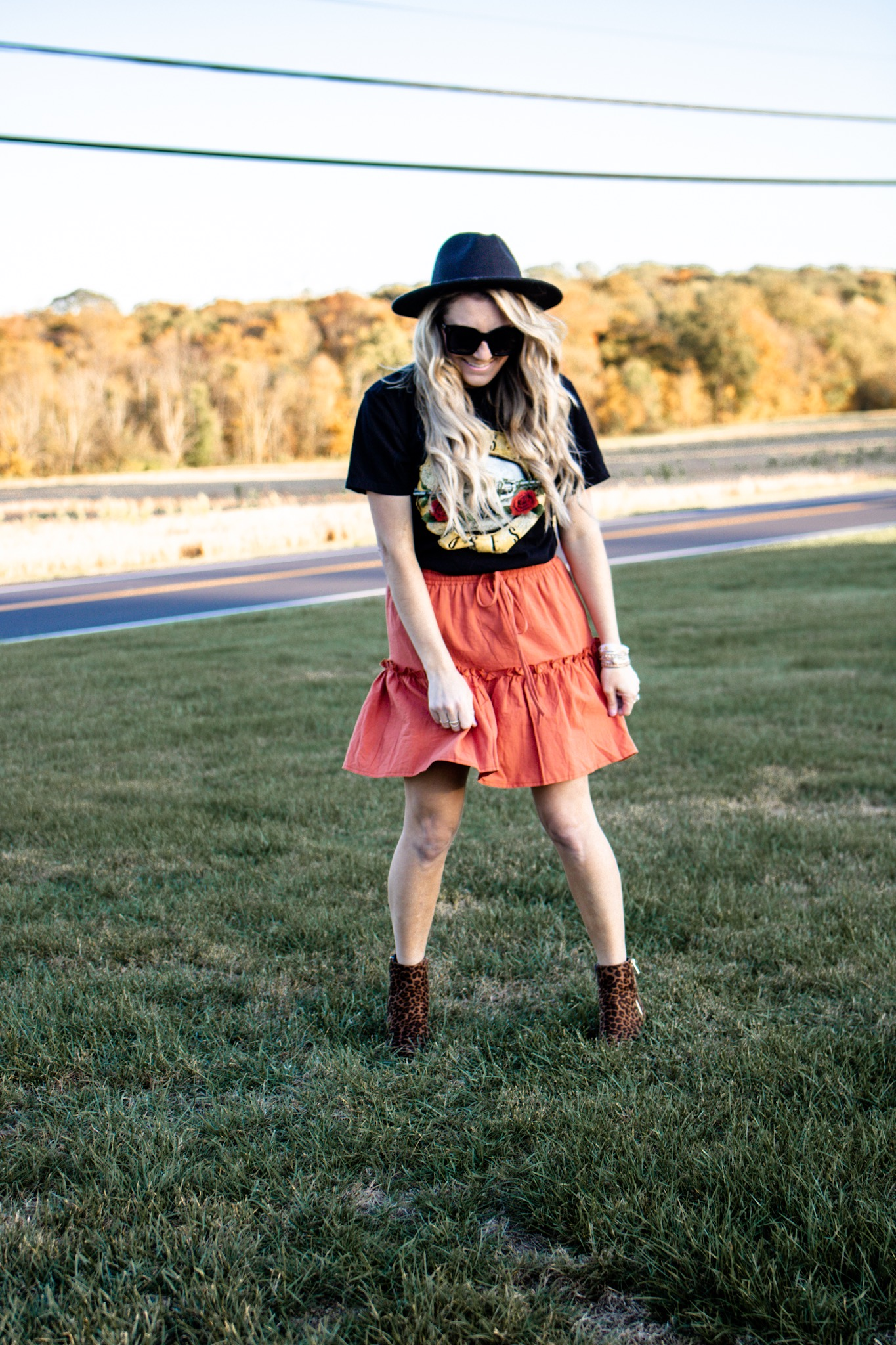 Amazon Fall Fashion under $25- flare skirt