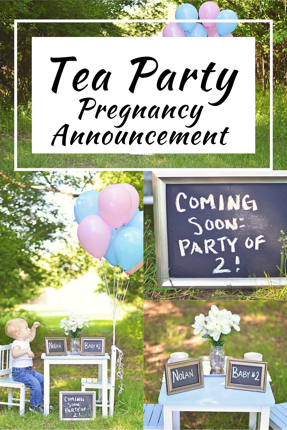 Tea Party Pregnancy Announcement