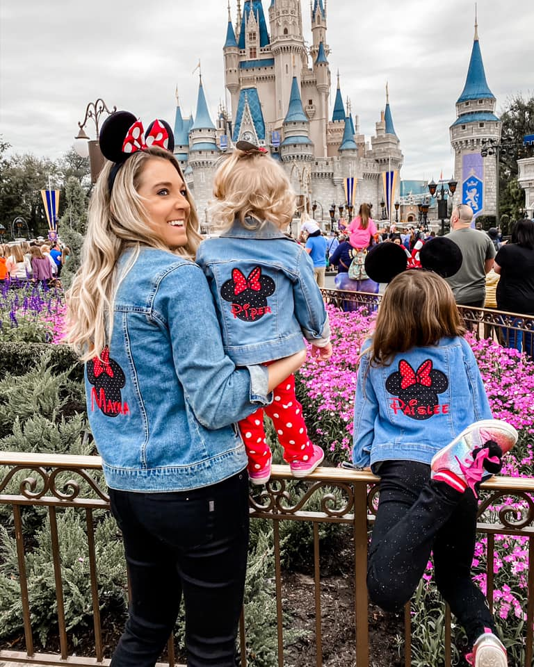matching minnie mouse jean jackets for disney world