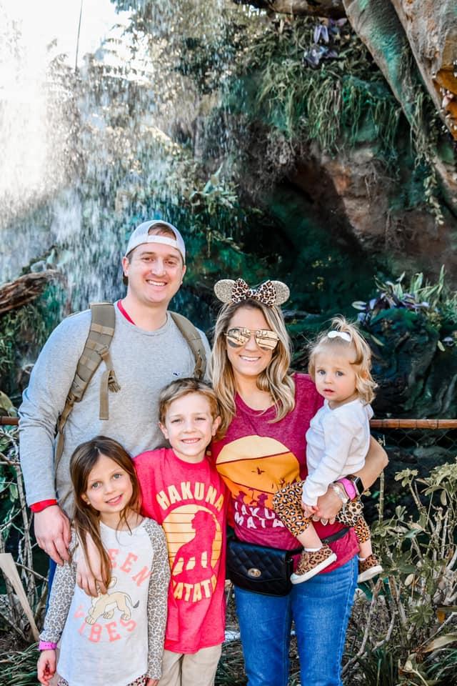 Matching family at Animal Kingdom outfits at Disney World
