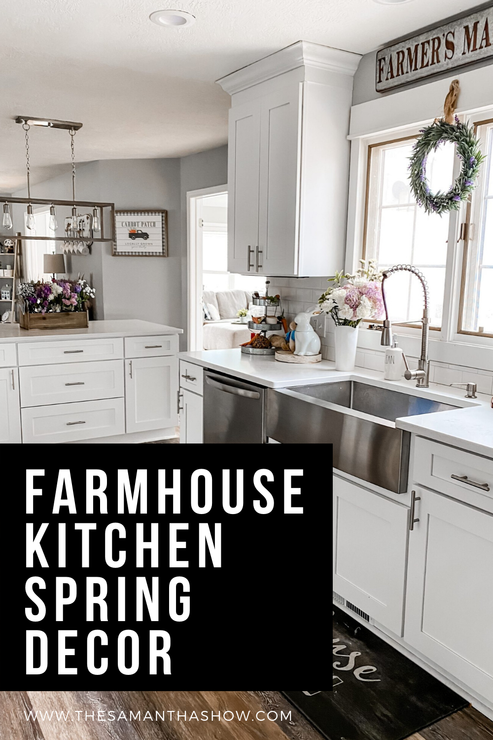 farmhouse kitchen spring decor (1)