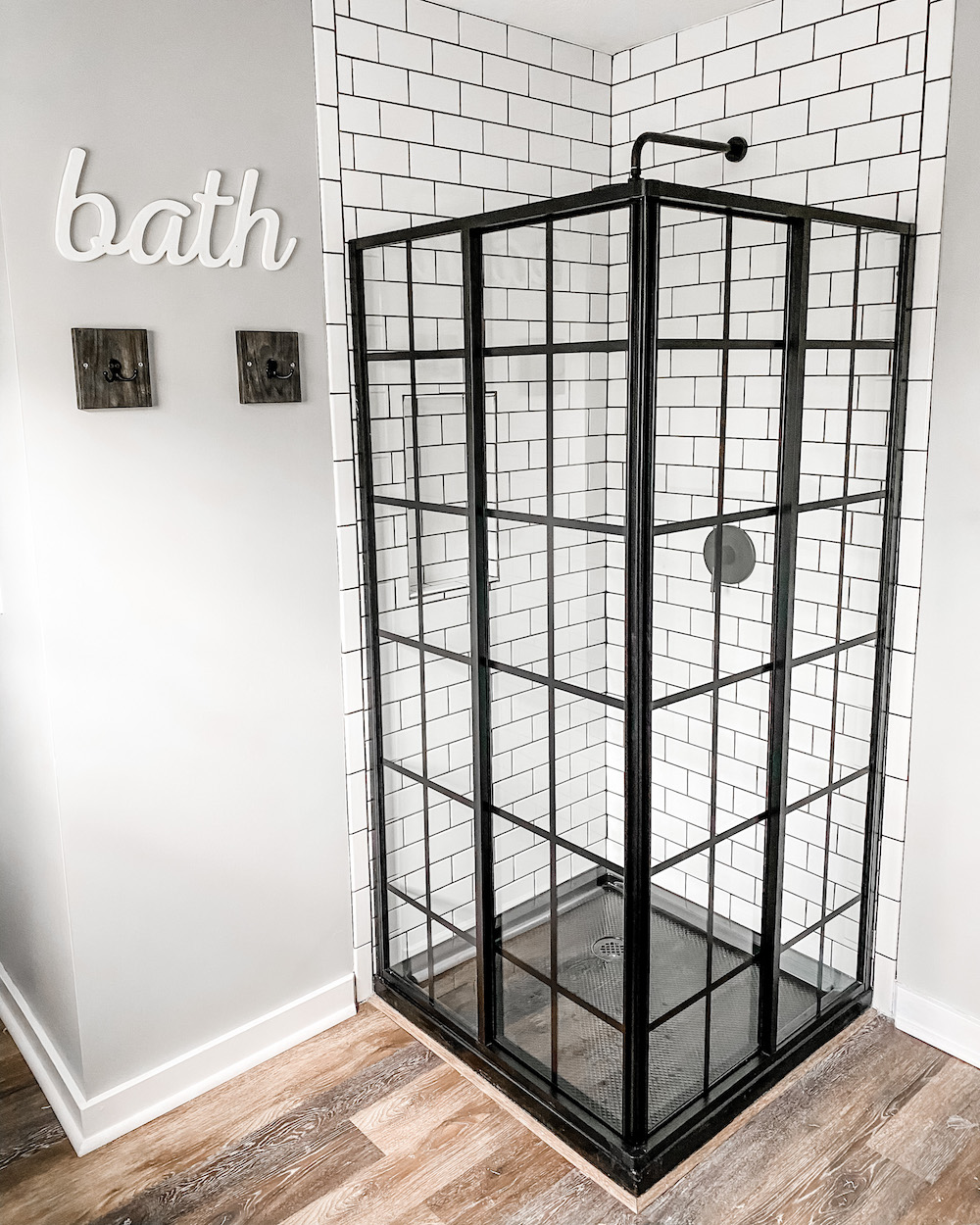 modern farmhouse industrial shower