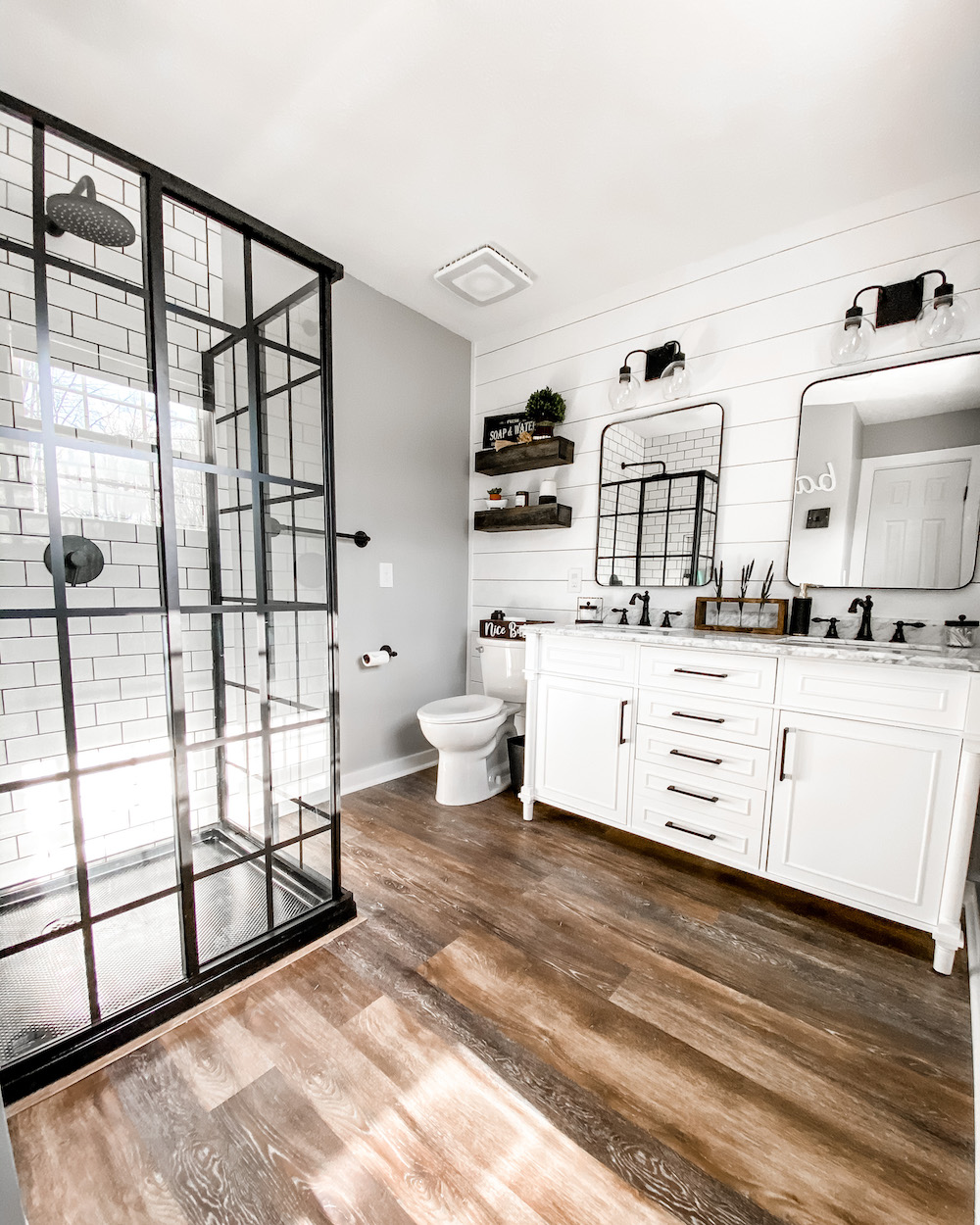 Modern Farmhouse Master Bathroom Remodel The Samantha Show A Cleveland Life Style Blog